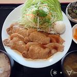 120566726 - 生姜焼き定食(850円)