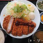 120566740 - 豚ロースかつ定食(1000円)