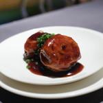 ミモザ - 玉子と海老の中国湯葉包み醤油漬け