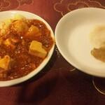 上海厨房 家楽 - ランチの食べ放題 麻婆豆腐がピリ辛で美味しいです。麻婆豆腐ランチ出してほしい。