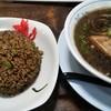むげん食堂 - 料理写真:両方黒い。でもちょうどいい味付け・味の濃さ。