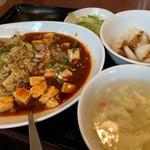 天府 - 高菜肉味噌炒飯&麻婆豆腐セット
