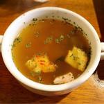 赤いトタン屋根の猫 - スープ