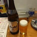おでんと串カツ姫路のお店 - 瓶ビール(アサヒスーパードライ)