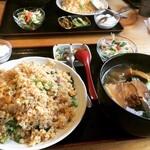元祥 - 豚バラと青菜炒飯+小ラーメン ¥980-