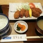 海幸山幸 越中茶屋 - カキフライ+ご飯セット ¥1150