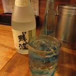 味処 だいこん - 残波 白 水割り 800円 (2019.10)