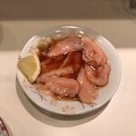 和風もつ料理 あらた - ミノ湯引き。