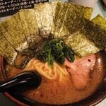家系拉麺 楽月 - のりらーめん  900円