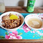 帆帆魯肉飯 - 料理写真:魯肉飯セット(850円) この日のスープは豚軟骨と大根のスープ