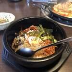 かしき屋福茂千 - 料理写真:石焼ビビンバの昼膳