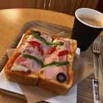 ブックマークカフェ - ピザトースト