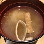 豚丼のぶたはげ - 味噌汁