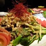 名古屋コーチン 個室居酒屋 京膳 - 棒棒鶏サラダ