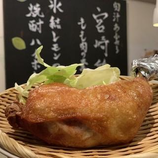 宮崎の新名物☆『宮崎鶏骨付きモモ肉の素揚げ』♪