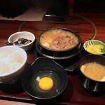 炭火焼神戸牛いく田 - すき焼き定食