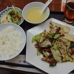 中国料理 香楽 - 回鍋肉ランチ 700円