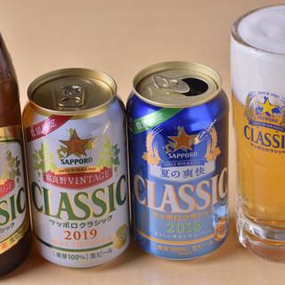 北海道の限定ビールなど、お料理と好相性なドリンクを多数ご用意