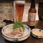 12070470 - シビワタ生姜と酢味噌400円+熊野古道ビール550円 (2011.12)