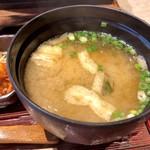 麦とろ海物語 - 味噌汁