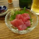 煮込みとお惣菜スタンド ウエトミ - マグロブツ¥450