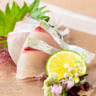 全国各地の旬食材を使用した、新鮮な「お刺身」をどうぞ。