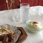 よしはら鉄板焼レストラン - 料理写真:野菜が来ます