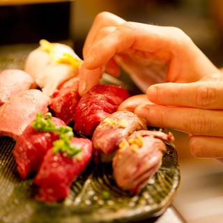 【肉好きに食べて欲しい】肉寿司の盛り合わせ