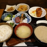 トロロ屋 - 欲張りランチ自然薯(中)1480円