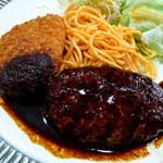 レストラン三幸 - ランチC(ハンバーグ・カニコロッケ)