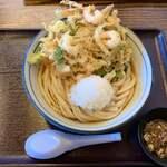 うどんっ子 - 料理写真:天おろしぶっかけうどん+かき揚げ単品