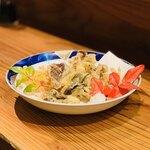 亀は萬年 - 茸6 種天ぷら