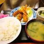 オーロラ - エビフライ盛り合わせ定食 550円