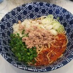 Zaiton - 限定麺  鯖汁無し担々麺+追加トッピングの味玉子