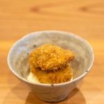 柚木元 - 山のカキフライ(熊の脳味噌フライ)自家製タルタルソース