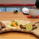 柚木元 - 岐阜産コガモと真鴨 ネギソース カリフラワー ミニ人参 イエロータナップ(黄色カブ)