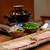 柚木元 - 熊鍋(出汁は熊の頭骨と昆布)ロース肉 バラ肉 九条葱 芹 頭蓋骨から剥がした頬肉などツキノワグマの「カシラ」