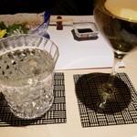 美山 - 八海山よろしく千万あるべしの水割り・白ワイン