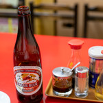 餃子の店 蘭州 - 2019.11 ビール(580円)キリンラガー中瓶