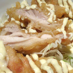 手打ち出雲蕎麦 - 「チキン南蛮定食」チキン南蛮の断面
