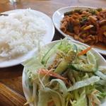 リトルバンコク - ランチB:とり肉と竹の子の辛子炒め