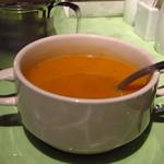 Isutamburusurutan - レンズ豆のスープ チキンケバブランチ \880