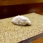 120741097 - [2019/10]寿司⑮ たちうおの握り これが「のむらのスペシャリテ」