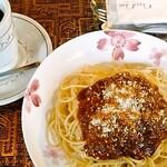 アラビゴコーヒー - ミートスパゲティセット600円+tax