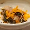 麻布六角 - 料理写真:真鯛の唐墨とトンブリかけ