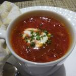 120763084 - スープ:Aトマト風味のボルシチスープ