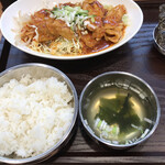 ガーリックモンスター - ロースからし焼定食