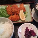 回転 さかえすし - ランチメニュー:牡蠣フライ定食600円