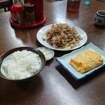 水田食堂 - 料理写真:ご飯(小)+焼きそば+玉子焼き