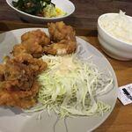 ギブ&ギフト 大阪市立中央図書館 地下食堂 - ・日替わりAランチ[からあげ定食]
